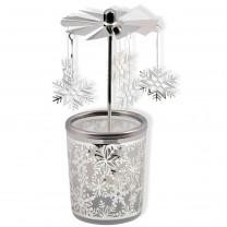 Glas-Windlicht - Schneeflocke