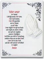 Keramikfliese - Vater Unser
