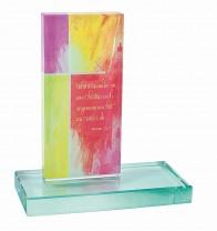 Glasstele Jahreslosung 2015