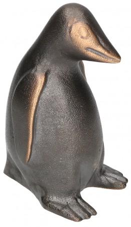 Bronzefigur Pinguin mittel