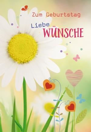 Glückwunschkarte Zum Geburtstag liebe Wünsche