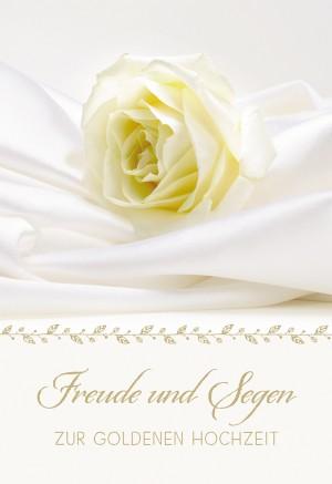 Glückwunschkarte Freude und Segen zur goldenen Hochzeit