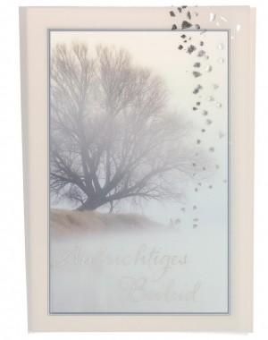 Trauerkarte mit Transparentumleger Aufrichtiges Beileid