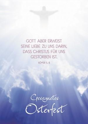 Postkarte Gesegnetes Osterfest