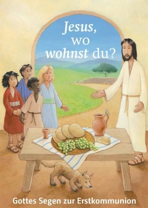 Glückwunschkarte Gottes Segen zur Erstkommunion