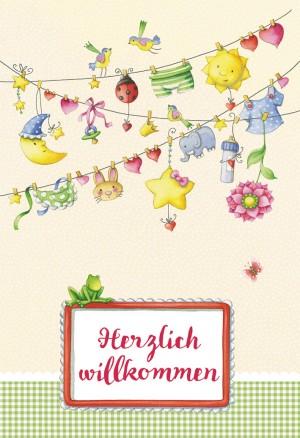 Glückwunschkarte zur Geburt Herzlich willkommen