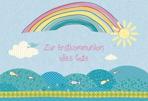 Glückwunschkarte Zur Erstkommunion alles Gute