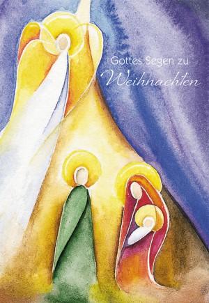 Glückwunschkarte Gottes Segen zu Weihnachten