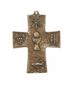 Kommunion - Symbolkreuz aus Bronze