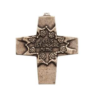 Kommunionkreuz - Bronzekreuz Jesus ist unsere Mitte