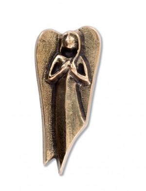 Bronzeplakette Engel