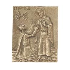 Bronzerelief Petrus - Peter - Petra - Pit