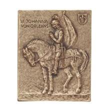 Bronzerelief Johanna