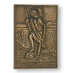 Christophorus-Plakette aus Bronze