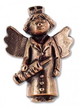 Schutzengel für die liebevolle Pflege, aus Bronze