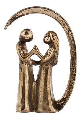 Bronzeminiatur Die Liebenden