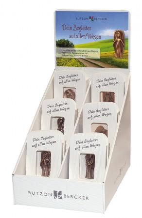 Display Wegbegleiter für jeden Tag - mit 24 Bronze-Handschmeichler