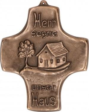 Schmuckkreuz Haussegen aus Bronze
