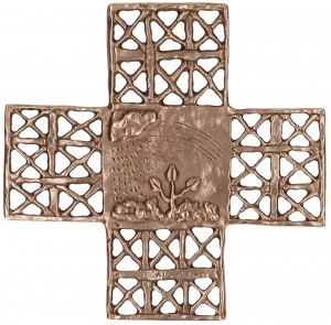 Bronzekreuz - Schöpfung