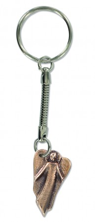 Bronze-Schlüsselanhänger Schutzengel
