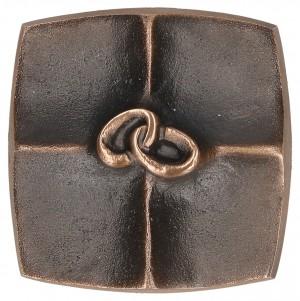 Kreuzplakette aus Bronze Eheringe