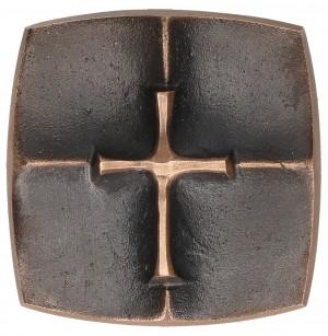 Kreuzplakette aus Bronze Kreuz