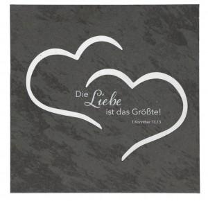 Schiefertafel - Die Liebe