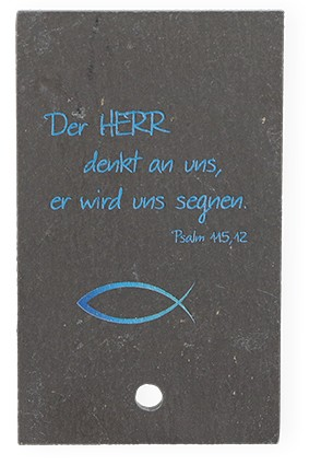 Schieferrelief Der Herr denkt an uns...