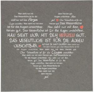 Schieferrelief zur Hochzeit Herz