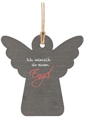 Schieferanhänger Ich wünsch dir einen Engel
