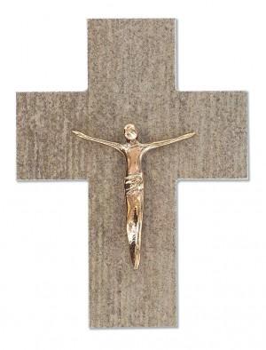 Feinsteinkreuz mit Korpus