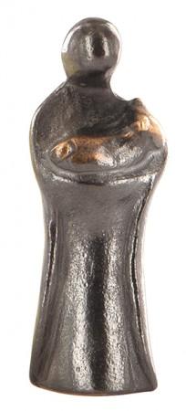 Mädchen mit Lamm aus Bronze - Bronzekrippe Eleganza