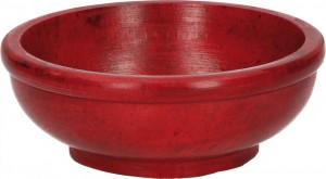 Räucherschale aus Speckstein in Rot