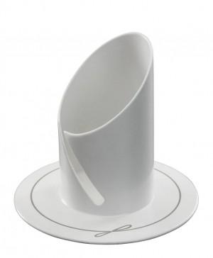 Kerzenleuchter aus Metall, weiß lackiert