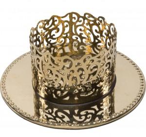 Kerzenleuchter Feine Ornamentik aus Messing