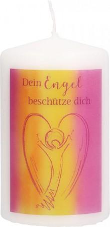Stumpenkerze Dein Engel beschütze dich