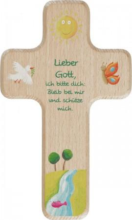 Kinderholzkreuz Lieber Gott
