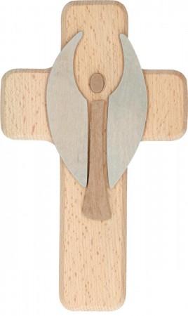 Intarsienholzkreuz Engel