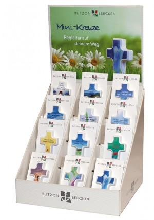 Display Handschmeichlerkreuze Begleiter auf deinem Weg - 12 Motive á 3 Stück