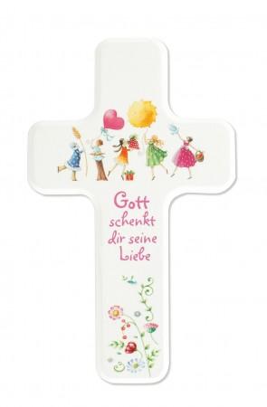 Kinderholzkreuz Gott schenkt dir seine Liebe