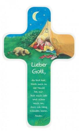 Kinderholzkreuz Gute-Nacht-Gebet