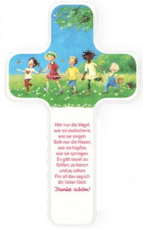 Kinderholzkreuz Dankgebet