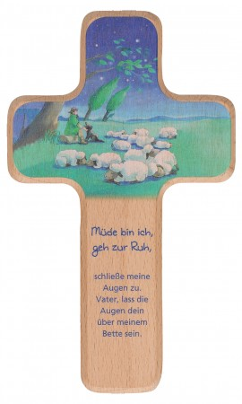 Kinderholzkreuz Guter Hirte