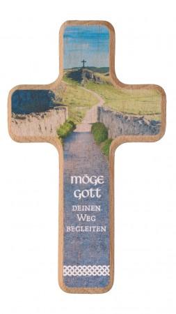 Holzkreuz 14 cm natur