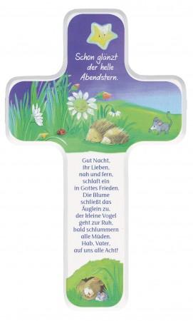 Kinderholzkreuz - Gute-Nacht-Gebet