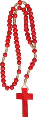 Rosenkranz mit roten Holzperlen