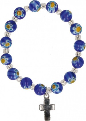 Armband mit Blumenperlen