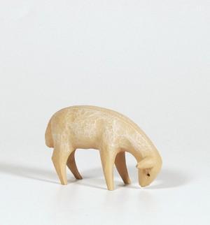 Krippenfigur Schaf, fressend