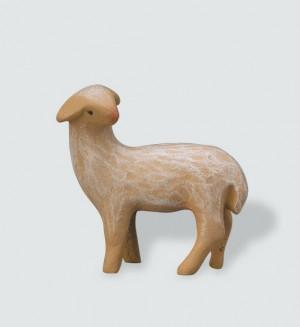 Krippenfigur Schaf, stehend, rückwärts schauend