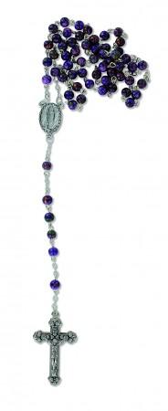 Rosenkranz mit Glasperlen - violett